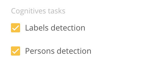 Persons and Labels Detection